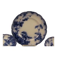 Ridgway Flow Blue Plates Lonsdale Pattern