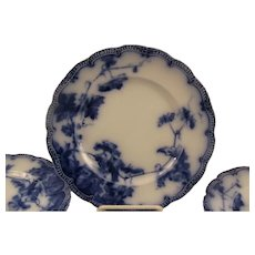 Ridgway Flow Blue Plates Lonsdale Pattern