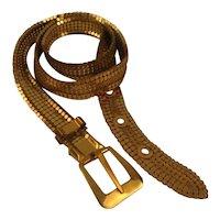 Vintage Whiting & Davis Gold Mesh Belt Signed