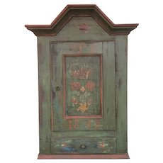 19th Century Scandinavian Painted Hanging Cupboard