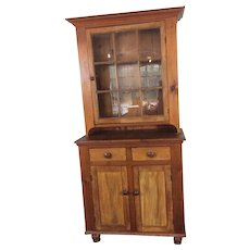 19th Century Stepback Cupboard Pa Made