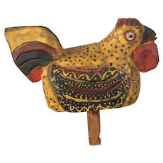 Primitive Hand Carved Chicken from Pa