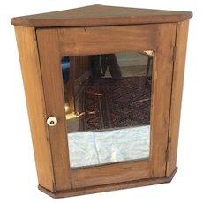 Primitive 19th Century Corner Cupboard