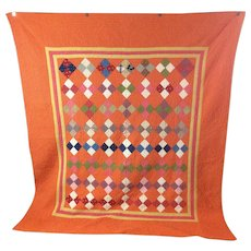 Vintage Square Patch Quilt from Pennsylvania
