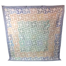 Vintage Windmill Hand made Quilt