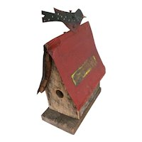 Vintage 1950s Pa made Bird House