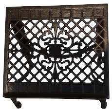 Antique Ornate Cast Iron Book Rest