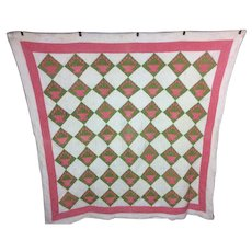 Antique 1890s Garden Basket Quilt