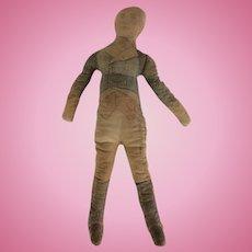 Antique Primitive Cloth Doll 1916