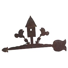 Vintage Primitive Metal Weather Vane