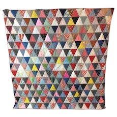 Vintage 1940s Pennsylvania Triangle Quilt