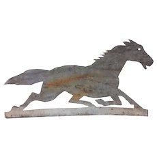 Antique Horse Metal Cut Out