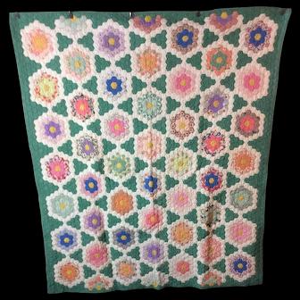 Vintage Grand Mothers Garden Quilt 1910-1920
