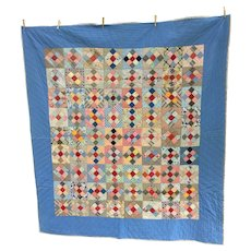 Vintage 1940s Pa Nine Patch Quilt