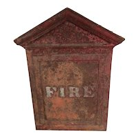 Antique Fire Signal Plaque