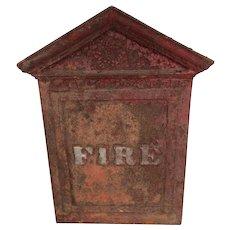 Antique Fire Signal Plaque