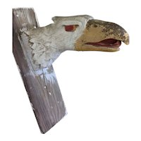 Vintage Hand Carved Carnival Eagle