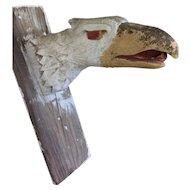 Vintage Hand Carved Carnival Eagle