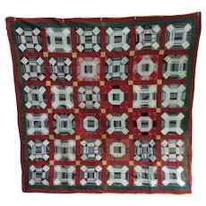 Vintage 9 Patch Pa Vintage Quilt