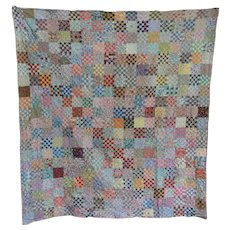 Vintage Checkerboard Pa Quilt 1930s