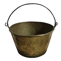 Antique Brass Bucket