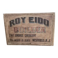 Antique Builders Trade Sign