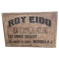 Antique Builders Trade Sign