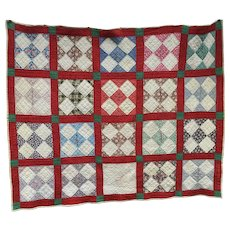 Vintage 5 Square Patch on Point Pa Quilt