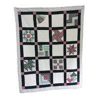 Vintage Sample Block Quilt 1940s