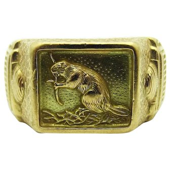 """MIT 1952 """"Brass Rat"""" Class Ring"""