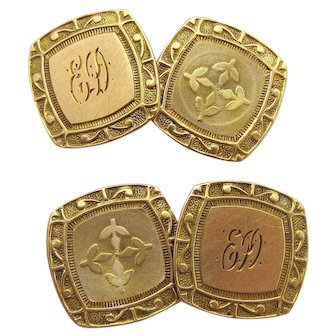 Antique Ostby and Barton Cuff Links