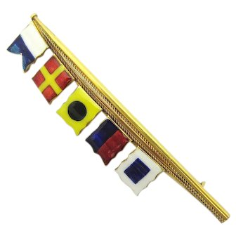 Benzie of Cowes Aries Nautical Signal Flag Pin