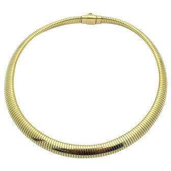 Retro Forstner Tubogas Choker Necklace