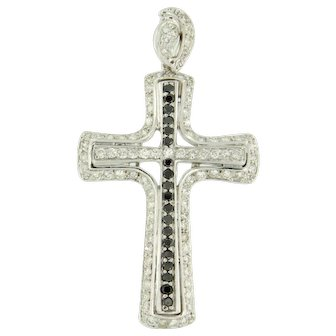 Diamond Cross Pendant ca. 1960