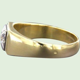 Retro Modern ring with diamond