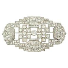 Edwardian Diamond Brooch ca. 1900