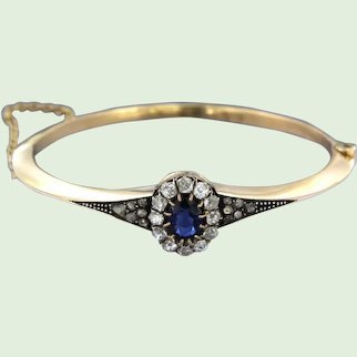 Early 20th century Dutch bracelet with sapphire and diamonds