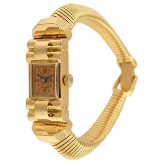 18k red golden French Retro Ladies Watch, 1040-1960