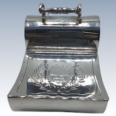 English Silverplate Coal Hod Tea Caddy
