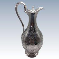 Scottish Sterling Ewer made in Glasgow Scotland 1848.