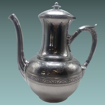 Gorham Sterling Engraved Coffee Pot . Date year 1872