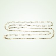 """Delicate and Fine Gold Filled Filigree Chain 24 1/2"""" Antique Necklace 1/20 12K GF"""