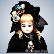 "Splendid Early Antique Kestner Doll ~ Closed Mouth ~ Brown Eyes ~ 19"""