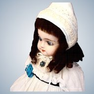 """Petite Antique German Papier Maché Doll ~ 1880s ~ 14"""""""