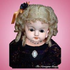Elegant Antique Papier Maché Doll ~ 1800s ~ Germany