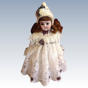 "Darling Early Alphabet Antique Kestner Doll ~ Closed Mouth ~ Brown Eyes ~ 12"" ~ ""G"""