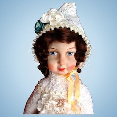 Delightful Antique Raynal Type Cloth Doll ~ 24""