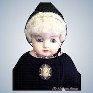 Antique German Papier Maché Doll ~ 1800s ~ Germany