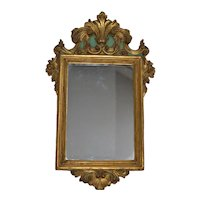 1920s Borghese Gilt Wood Plaster Mirror