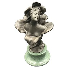 Lady in Bud Bronze on Marble